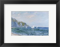 Framed Cliffs and Sailboats at Pourville