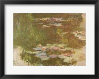 Framed Water Lilies, Reflected Willow, c.1920