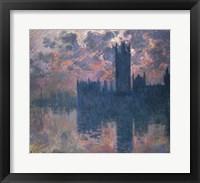 Framed Houses of Parliament, Sunset, 1902