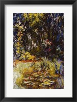 Framed Corner of a Pond with Waterlilies, 1918