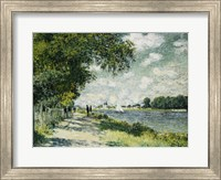 Framed Seine at Argenteuil, 1875