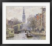 Framed Canal a Amsterdam, 1874