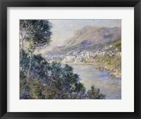 Framed Monte Carlo, Vue de Cap Martin, 1884