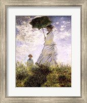 Framed Woman with a Parasol - Madame Monet and Her Son