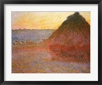 Framed Haystacks, Pink and Blue Impressions, 1891