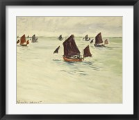 Framed Fishing Boats on the Large de Pourville, 1882