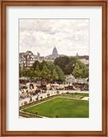 Framed Garden of the Princess, Louvre, 1867