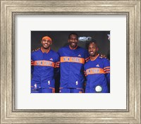 Framed Amar'e Stoudemire, Chauncey Billups, & Carmelo Anthony  2010-11 Press conference