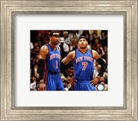 Framed Carmelo Anthony & Amar'e Stoudemire 2010-11 Action