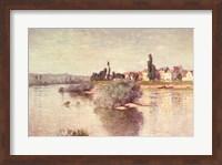 Framed Seine at Lavacourt, 1880