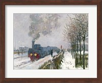 Framed Train in the Snow or The Locomotive, 1875