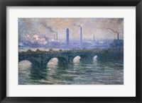 Framed Waterloo Bridge, Cloudy Day, 1900