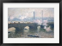 Framed Study of Waterloo Bridge at Dusk, 1903