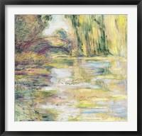 Framed Waterlily Pond: The Bridge