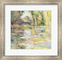 Framed Waterlily Pond: The Bridge