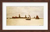 Framed Outer Harbour at Zaandam, 1871
