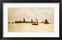 Framed Outer Harbour at Zaandam, 1871