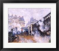 Framed Pont de l'Europe, Gare Saint-Lazare, 1877