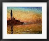 Framed View of San Giorgio Maggiore, Venice by Twilight, 1908