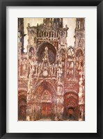 Framed Rouen Cathedral, evening, harmony in brown, 1894