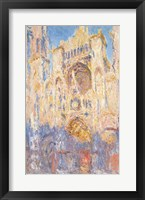 Framed Rouen Cathedral, Effects of Sunlight, Sunset, 1892 (oil on canvas)
