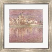 Framed Vetheuil, sunset, 1901