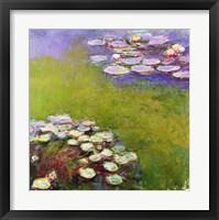 Framed Waterlilies, Harmony in Blue, 1914-17