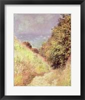 Framed Chemin de la Cavee, Pourville, 1882