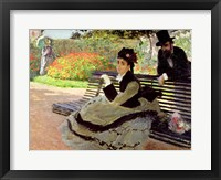 Framed Madame Monet on a Garden Bench