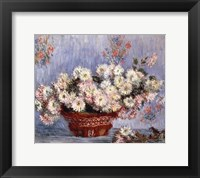 Framed Basket of Chrysanthemums, c.1878