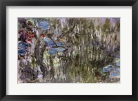 Framed Waterlilies with Reflections of Willows, c.1920