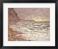 Framed Sea at Fecamp, 1881