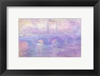 Framed Waterloo Bridge in Fog, 1899-1901