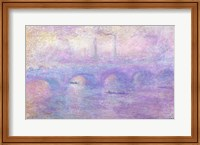 Framed Waterloo Bridge in Fog, 1899-1901
