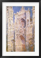 Framed Rouen Cathedral, West Facade, Sunlight, 1894