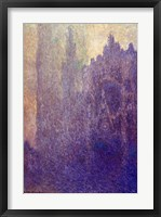 Framed Rouen Cathedral, Foggy Weather, 1894