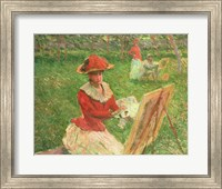 Framed Blanche Hoschede (1864-1947) Painting, 1892