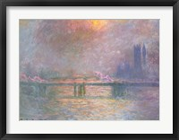 Framed Thames with Charing Cross bridge, 1903