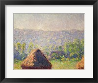 Framed Haystacks or, The End of the Summer, at Giverny, 1891