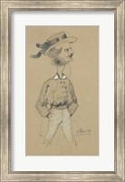 Framed Man with a Boater Hat, 1857