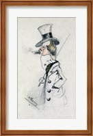 Framed Dandy with a Cigar, 1857