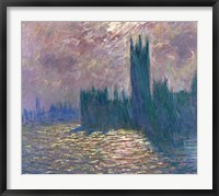 Framed Parliament, Reflections on the Thames, 1905