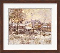 Framed Snow Effect with Setting Sun, 1875