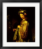 Framed Saskia as Flora, 1634