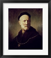 Framed Portrait of Rembrandt's Father