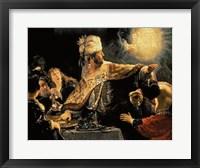 Framed Belshazzar's Feast c.1636