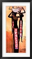 Framed African Elegance I