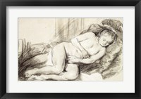 Framed Reclining Female Nude