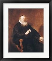 Framed Portrait of Pastor Eleazer Swalmius