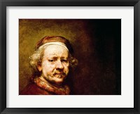 Framed Self Portrait in at the Age of 63, 1669